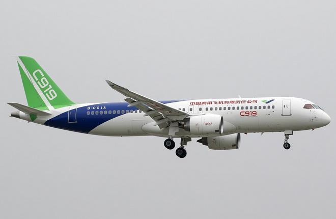 Прототип самолета C-919 совершил повторный 2-й полет