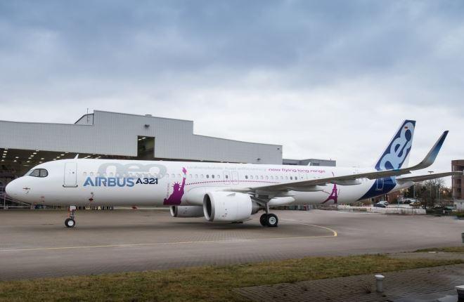Завершена сборка 1-го A-321neo повышенной вместимости