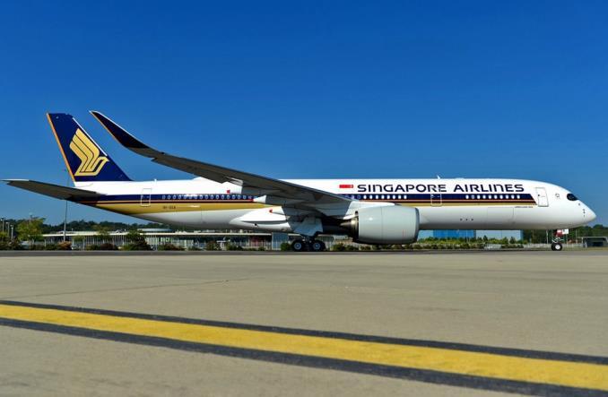 Свердальнемагистральный Airbus A350XWB Сингапурских авиалиний