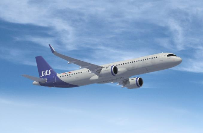 Airbus A321LR компании SAS