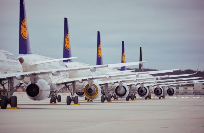 Парковка самолетов Lufthansa