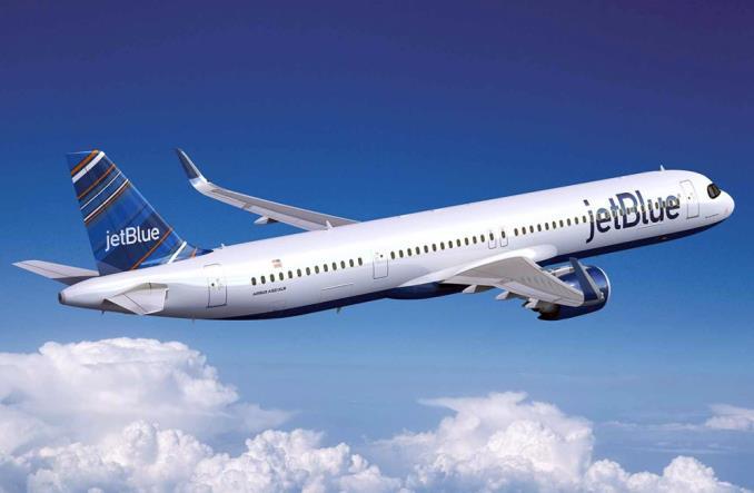 Дальнемагистральный A321XLR авиакомпании JetBlue