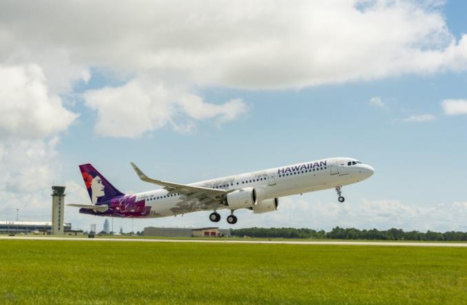 A321neo авиакомпании HawaiianAirlines