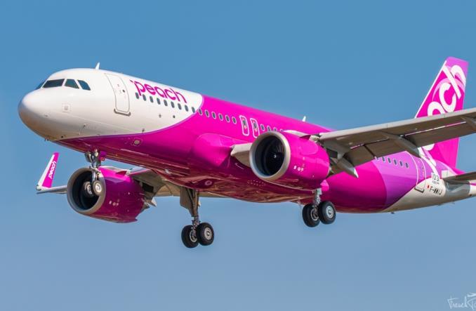 Первый   A320neo для Peach Aviation