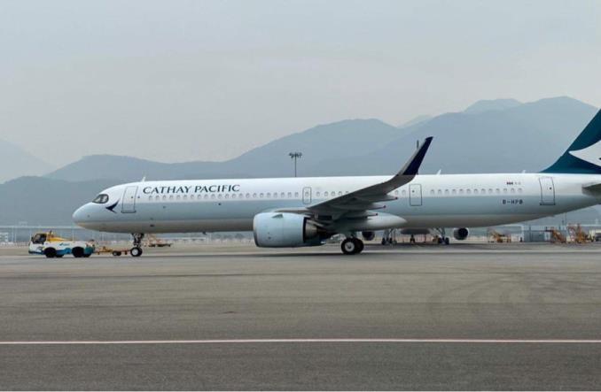 Первый Airbus A321neo для на Cathay Pacific